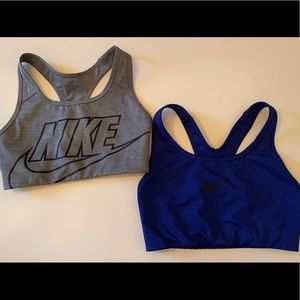 (2) Nike Medium-Support Non-Padded Sports Bras